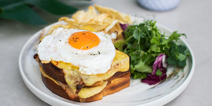 Croque Madame from Urbana Rooftop Bar at Courtyard by Marriott Singapore in Novena, Singapore