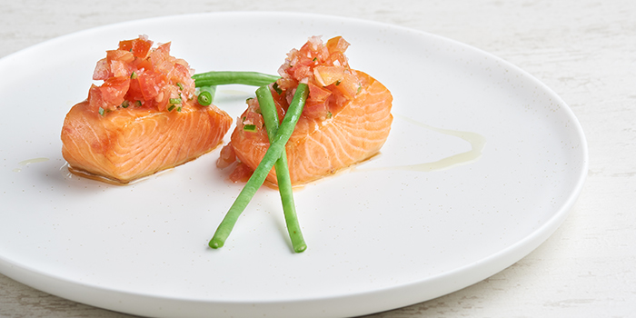 Hot Smoked Salmon from WAKANUI Grill Dining Singapore at Marina One The Heart West Tower in Marina Bay, Singapore
