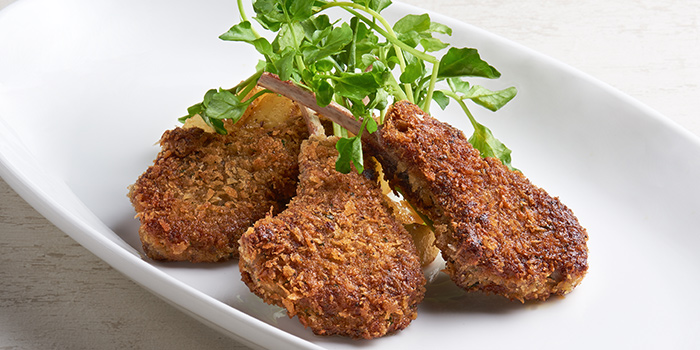 Lambchop Milanese from WAKANUI Grill Dining Singapore at Marina One The Heart West Tower in Marina Bay, Singapore