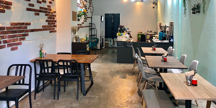 Interior of Whale Lala Cafe at The Commerze@Irving in Tai Seng, Singapore