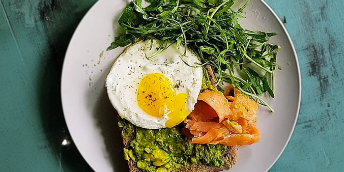 Avo Toast from Whale Lala Cafe at The Commerze@Irving in Tai Seng, Singapore