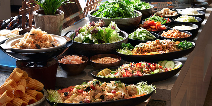 Salad Bar from Window on the Park in Holiday Inn Singapore Orchard City Centre in Orchard, Singapore