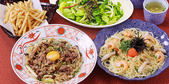 Food Spread from Yomenya Goemon in Buona Vista, Singapore