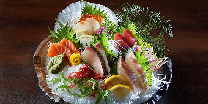 Sashimi Platter from Bincho at Min Jiang in Dempsey, Singapore