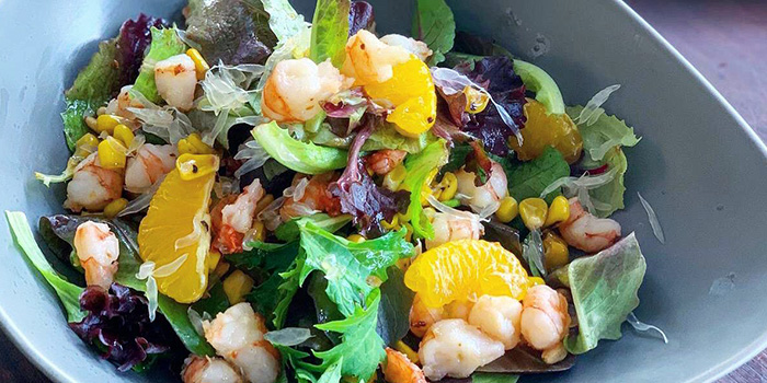 Sauteed Prawn Salad from South Union Park in Kembangan, Singapore