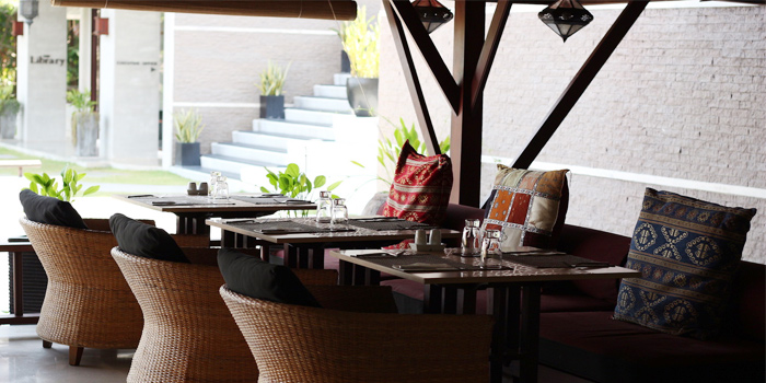 Seating from Bambu Restaurant in Chalong, Phuket, Thailand