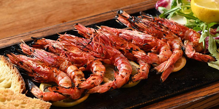 Shrimp, The Italian Club Wine Bar, Steak House & Pizza Gourmet, SOHO, Hong Kong
