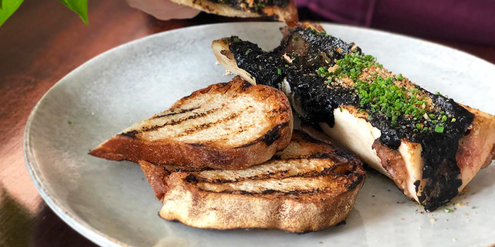 Squid Ink Bone Marrow from South Union Park in Kembangan, Singapore