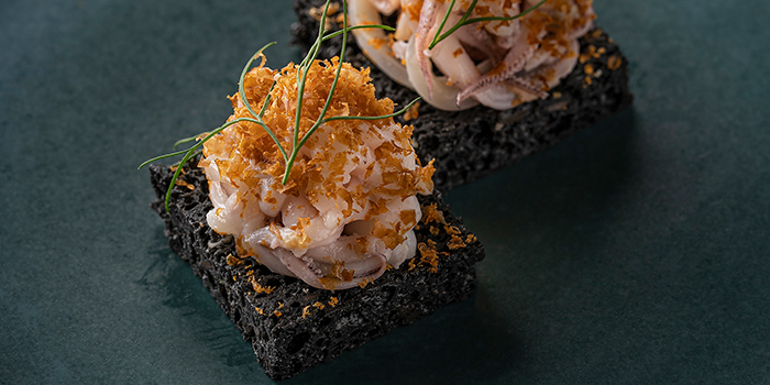 Squid Ink Cake from Whitegrass in Chijmes, Singapore