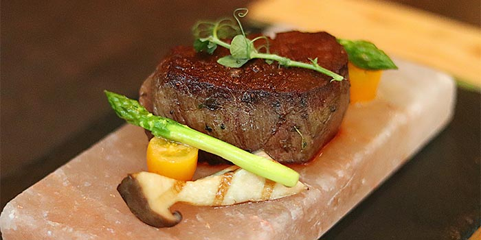 Steak Cook with Himalayan Salt at Riva Grill Bar & Terrace at The Park Lane Jakarta in Kuningan, Jakarta