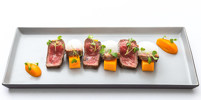 Black Angus Beef Tataki from Tablescape Restaurant & Bar at Grand Park City Hall in City Hall, Singapore