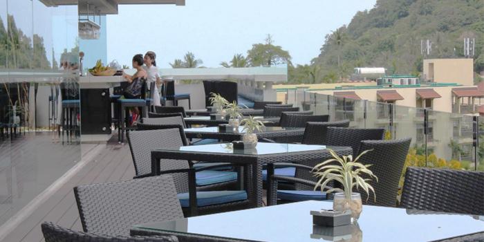 Terrace of Blue Mango Bar & Grill in Patong, Phuket, Thailand.