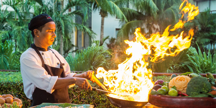 The Chef cooking from Silk Restaurant and Bar in Kamala, Kathu, Phuket, Thailand