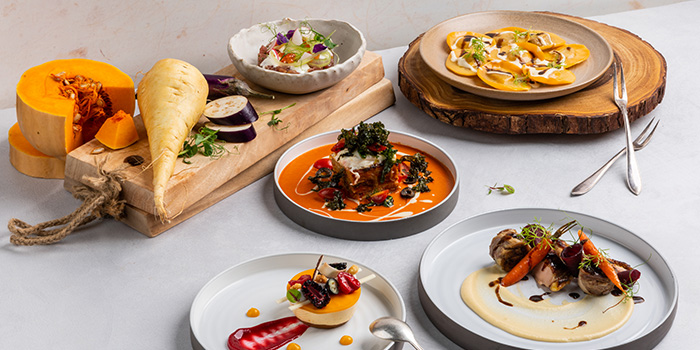 Food Spread from Xperience Restaurant in SO Sofitel Singapore in Raffles Place, Singapore