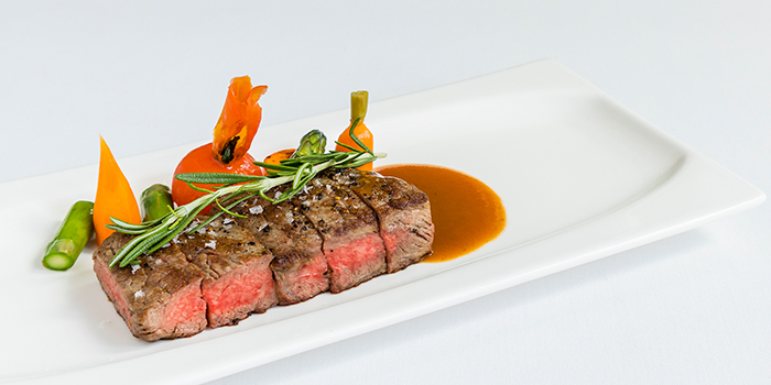 Wagyu Sirloin, Rosemary, Crystal Salt from Sinfonia Ristorante in Boat Quay, Singapore