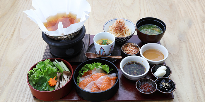 White Fish & Salmon Dashi Shabu Shabu Set Lunch from MAI by Dashi Master Marusaya in Outram, Singapore