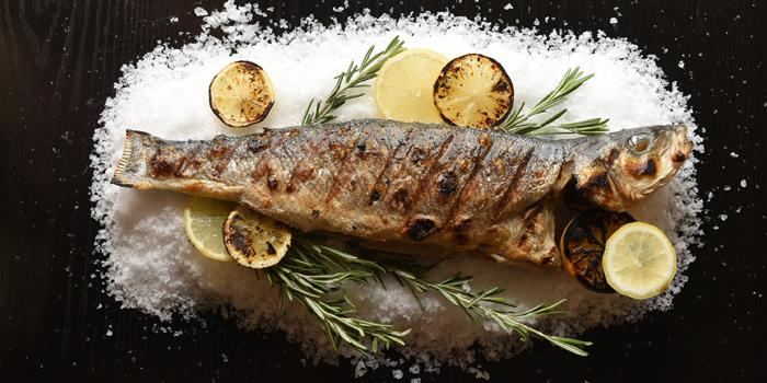Whole Grilled Sea Bass, Bread Street Kitchen & Bar, The Peak, Hong Kong