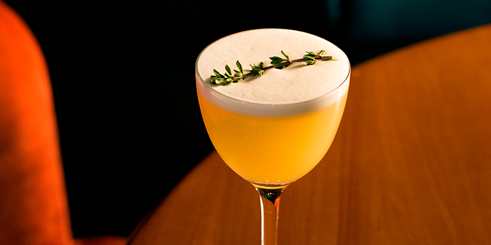 Yuzu Whiskey Sour from Jigger and Pony at Amara Hotel in Tanjong Pagar, Singapore