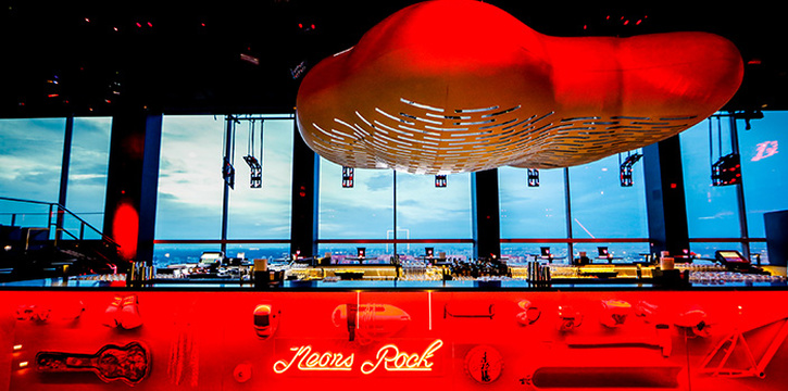 Bar of Bar Rouge at Swissotel the Stamford in City Hall, Singapore