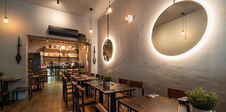 Interior of Taliwang Restaurant in Bugis, Singapore