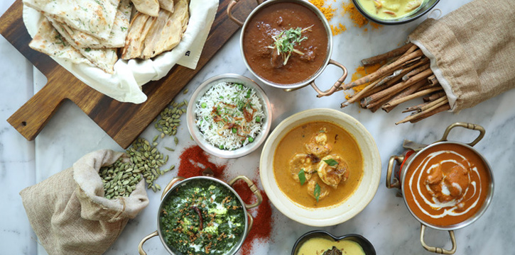 Selection of Food from Indus Contemporary Indian Dining in Upper Sukhumvit, Bangkok
