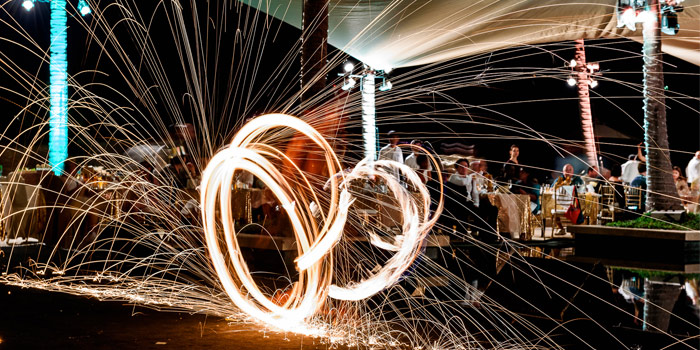 Firework of Silk Restaurant and Bar in Kamala, Kathu, Phuket, Thailand