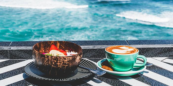 Food from Single Fin, Uluwatu, Bali