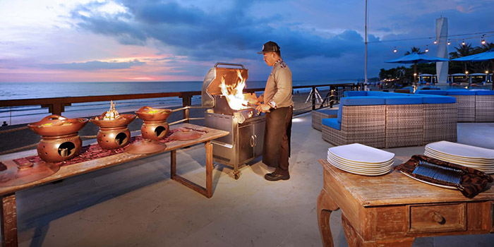 BBQ from Vuew Beach Club, Canggu, Bali