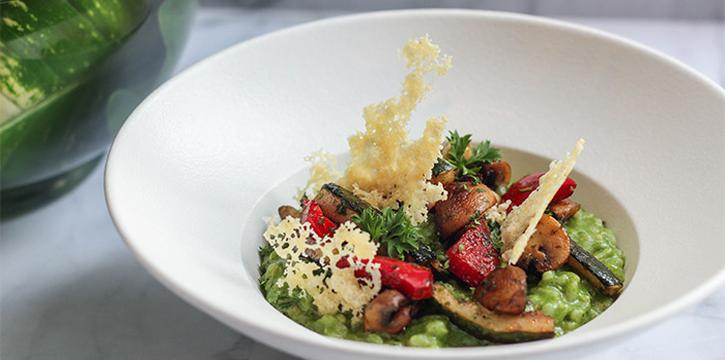 Spinach Risotto at Collage All Day Dining