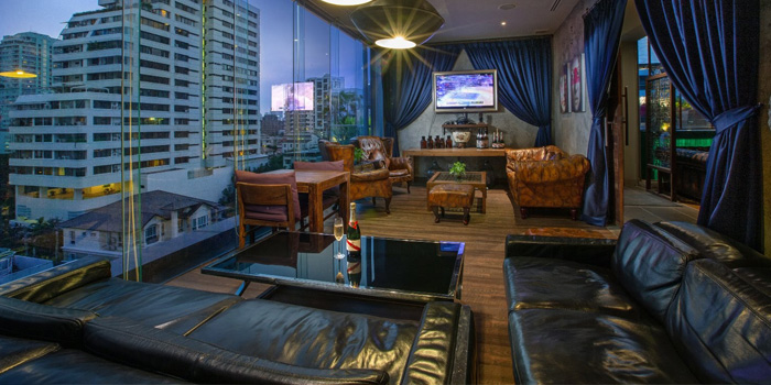 Ambience of Nomad Rooftop Lounge and Bar at Galleria 10 hotel Bangkok 21 sukhumvit soi 10 Bangkok