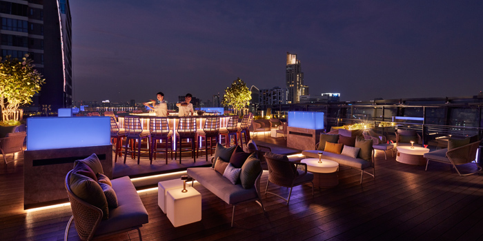 Bar Area of Spectrum Lounge & Bar at Hyatt Regency Sukhumvit Bangkok Hotel 1 Sukhumvit Soi 13  Kloengtoei Nua, Watthana Bangkok