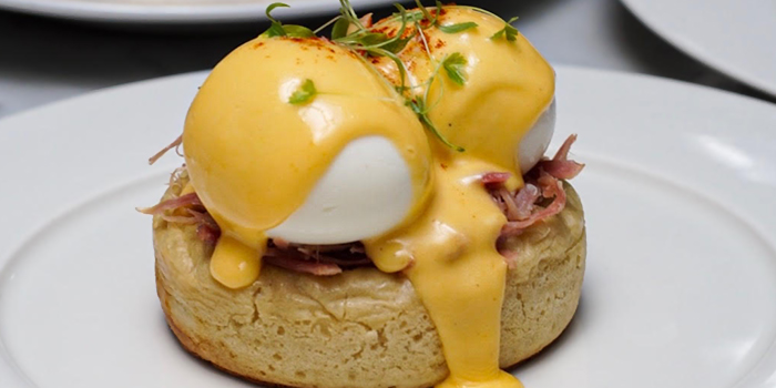 Breakfast Eggs Benedict from The English House by Marco Pierre White in Robertson Quay, Singapore