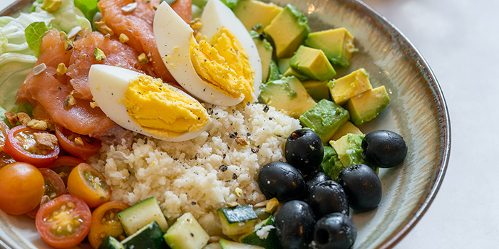 Cauliflower Rice and Smoked Salmon Keto Salad from The Coffee Academics (Scotts Square) at Scotts Square in Orchard, Singapore