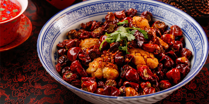 Crispy Fried Chicken with Sichuan Chilli Peppers, Redhouse (Midtown), Causeway Bay, Hong Kong