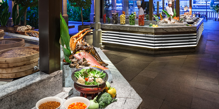 Buffet Station from River Café & Terrace at The Peninsula Bangkok