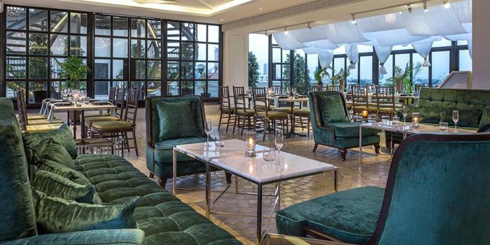 Dining Area from Topknot Rooftop Bar & Restaurant at Hotel Once Bangkok 2074/99 Charoenkrung 72/2 ,Bangkorlaem Bangkok