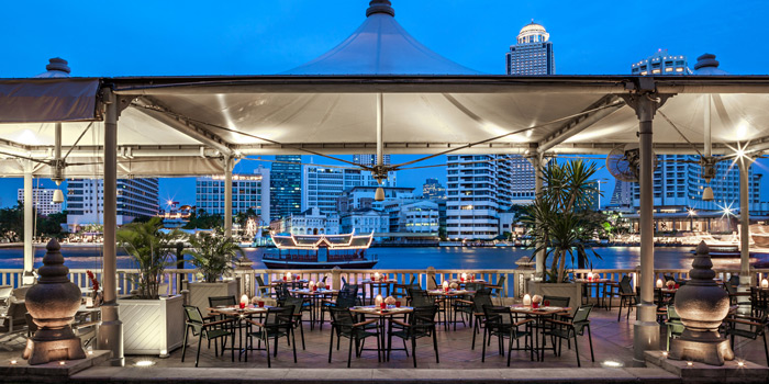 Dining Area of River Café & Terrace at The Peninsula Bangkok