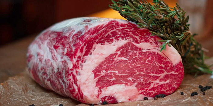 Dry Aged Minimum 45 Dday Black Angus Beef from The English House by Marco Pierre White in Robertson Quay, Singapore