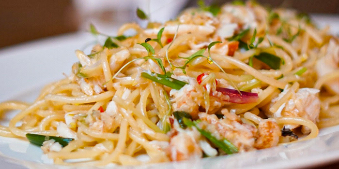 Fresh Crab Linguini from The English House by Marco Pierre White in Robertson Quay, Singapore