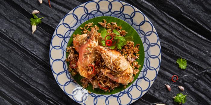 Goong Mae Nam Tod Kratiem from Market Cafe at Hyatt Regency Sukhumvit Bangkok Hotel 1 Sukhumvit Soi 13 Kloengtoei Nua, Watthana Bangkok
