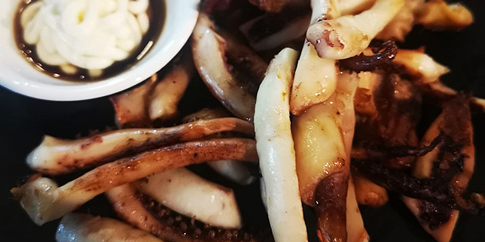 Grilled Half Squid from Honey Night 꿀밤 in Paya Lebar, Singapore