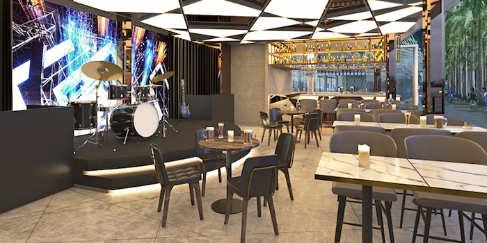 Interior from Le Noir (Marina Bay Sands) at The Shoppes at Marina Bay Sands in Marina Bay, Singapore