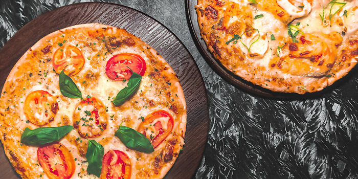 Pizza Spread from Le Noir (Marina Bay Sands) at The Shoppes at Marina Bay Sands in Marina Bay, Singapore