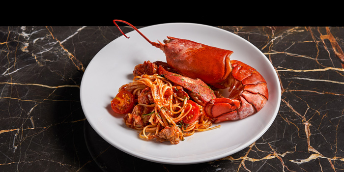 Lobster Linguine from Spectrum Lounge & Bar at Hyatt Regency Sukhumvit Bangkok Hotel 1 Sukhumvit Soi 13  Kloengtoei Nua, Watthana Bangkok