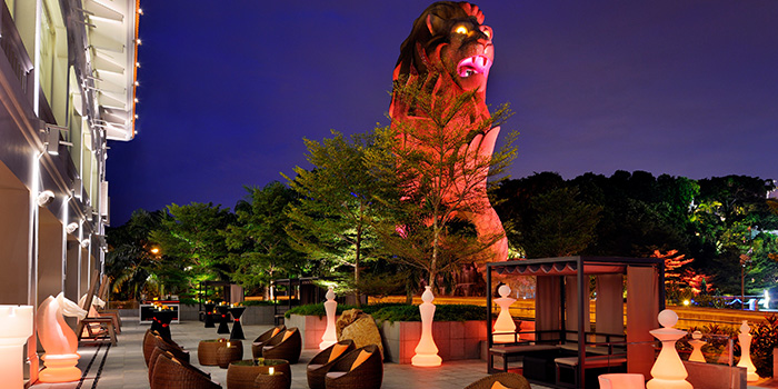 Al Fresco Seating of The WoW - World Of Whisky at Le Méridien Singapore in Sentosa, Singapore