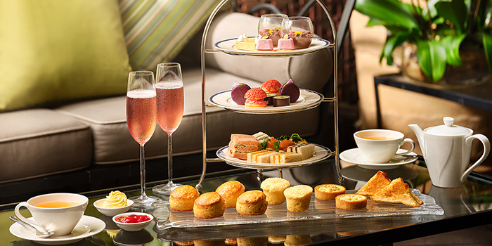 Floral Afternoon Tea from One-Ninety Bar at Four Seasons Hotel Singapore in Orchard Road, Singapore