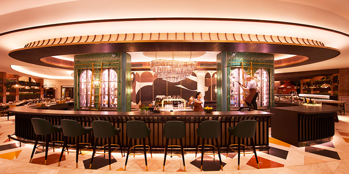 Bar Interior of Prego at Fairmont Singapore in City Hall, Singapore