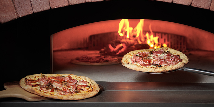 Pizza from Prego at Fairmont Singapore in City Hall, Singapore