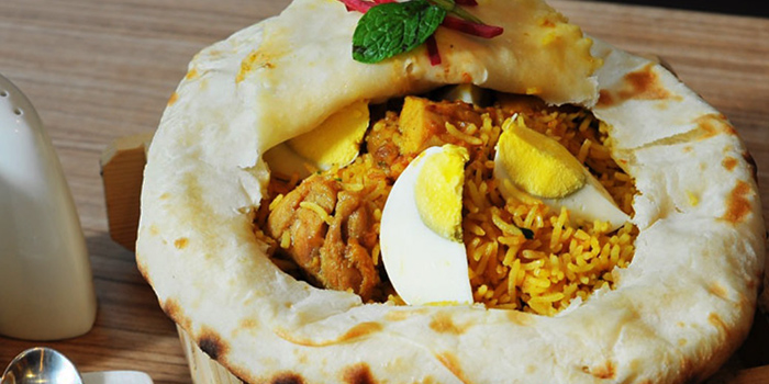 Chicken Dum Biryani from Anglo Indian Cafe & Bar (Marina One) at Marine One in Marina Bay, Singapore