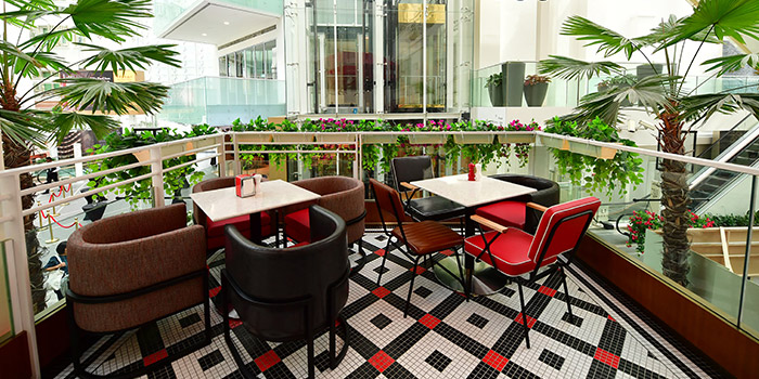 Exterior ofBroadway American Diner at Arcade @ The Capitol Kempinski in City Hall, Singapore